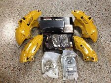 New Cadillac CTS-V 6 Piston Yellow Brembo Calipers Front & Rear w/pads pins ZL1