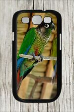 BIRD GREEN-CHEEKED CONURE BREED #2 FOR SAMSUNG GALAXY S3 CASE COVER -dnb8Z