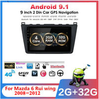 """For Mazda 6 08-12 w/Canbus Car Multimedia Player Radio GPS 9"""" Android 9.1 32+2GB"""