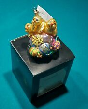 Christopher Radko Petite Peep Trio Ornament Tree Vintage Easter Egg Decor Chicks