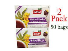 50 tea bags BADIA NATURAL HERBS - TE DE HIERBAS NATURALES SLIMMING TEA