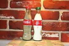 COCA-COLA 8oz 125th ANNIVERSARY SALT & PEPPER SHAKERS (Glass Bottles)