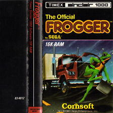 1981 FROGGER Cassette Game Timex Sinclair 1000 Cornsoft Instruction Booklet