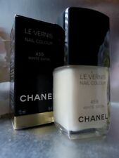 CHANEL 459 WHITE SATIN Sheer Off-White Fab for French Manicure New Not A1 Box