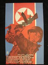 OSPAAAL Political Poster Korea Corea Coree Solidarity / Cuban Peope artl 1968