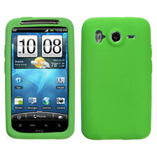 Green Rubber Silicone Skin Case for HTC Inspire 4G