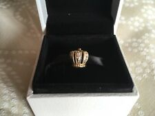 Genuine Authentic Pandora 14ct Gold & Diamond Crown Charm 750453D G585 ALE