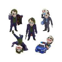 5pcs/set DC Comics Batman The Dark Knight The Joker Mini PVC Figures Collection