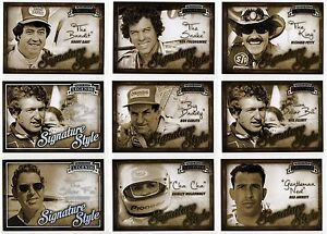 2013 Press Pass Legends Signature Style Base or Holofoil You Pick Your Driver