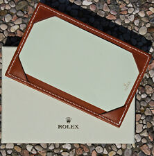 ROLEX porta documenti e foglietti in pelle marrone ORIGINALE NUOVO con scatola.