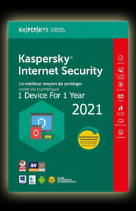 Kaspersky Internet Security 2021✅ Global 🔑1 Device For 1 year PC/Mac/Android