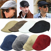 UK Unisex Women Mens Flat Cap Beret Herringbone Newsboy Bakerboy Ivy Hat