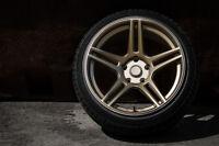 7 Twenty Style 46 Alloy Wheels 5X100 18X9.5J ET20 Leon Ibiza TT Golf Bronze