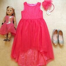 Billieblush American Girl Doll Isabelle Sparkle Pink Tulle Party Dress 8