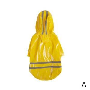 New! Pet Dog Puopy Pink Yellow Waterproof Coat  Rain Jacket  Hood 1 With