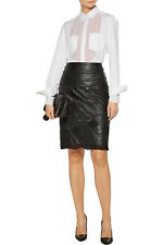 MAISON MARGIELA Chain Trimmed Quilted Leather Tulle Skirt Size 40 NWT $3,095