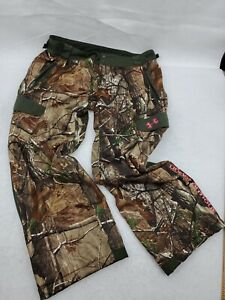Under Armour Scent Control Camo Pants Women's Size XL Pink Hunting Realtree