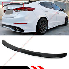 For 2017-18 Hyundai Elantra Painted Glossy Black H Style Trunk Lid Spoiler Wing