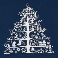 DMC Cross Stitch Kit - Christmas Tree Blue Christmas Keepsake Nordic Design