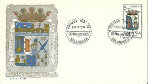 Spain 1965 First Day Cover - Shields Series - Salamanca