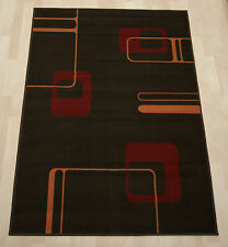 Cheap Budget Chocolate Graphic Rug modern student medium hallway runner 60x225cm