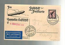 1930 Germany Graf Zeppelin postcard Cover Switzerland Flight LZ 127