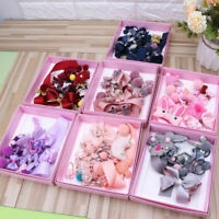 18Pcs/Set Baby Girls Hair Band Kids Hairpin Headwear Bow Clip Elastic Ring Gifts