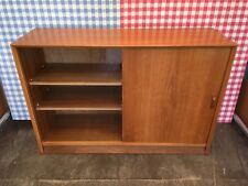 Very Stylish Mid Century Retro Mahogany or Teak Bookcase Cupboard Sliding Doors