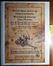 IH International McCormick Deering B-110 BN-110 B-111 BN-111 Corn Planter Manual