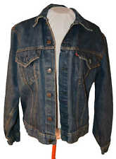 Levi's denim jean jacket sz 42 with EAGLE on back Medium