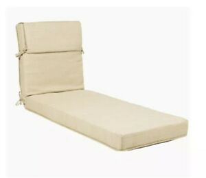 (2) Allen + Roth Wheat Patio Chaise Lounge Chair Cushion