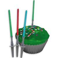 Star Wars Tortendeko 12er Set Lichtschwerter Geburtstagstorte Kuchen Muffin Deko