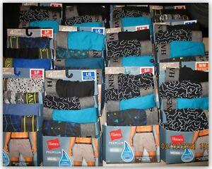 Hanes Premium original fit KNIT BOXERS ultra soft Cotton Cool Wicking S M L 2XL
