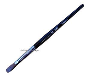 EX  Black Handle Kolinsky Nail Brush (Crimped) for Acrylic Powder - Size #10