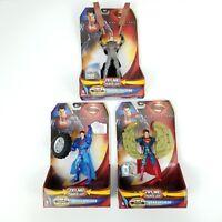 Lot 3 Mattel DC Comics Superman Man of Steel Power Attack Deluxe Action Figures