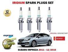 apto subaru Impreza 1.6 FB16 1600cc 2011- > Iridio 4x bujía set