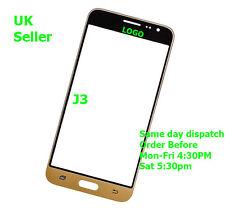 Samsung Galaxy J3 J300 J300F 2015 Pantalla Táctil de Cristal Exterior Frontal Oro + Herramientas