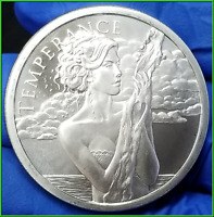Temperance 1oz BU Silver Shield 2019 .999 Silver Round
