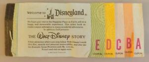 1980 DISNEYLAND A-E TICKET BOOK with Eleven Tickets The Happiest Place on Earth