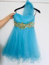 DESIGNER Blue Party Summer Bodycon Blogger Evening Night DRESS. PERFECT COND 8