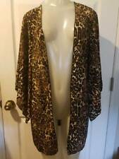 New Juniors Body Central Leopard Print Kimono Style Open Jacket Robe Size Small
