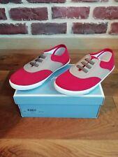 Chaussures baskets sneakers Jacadi garçon neuves T. 31 neuf rouge et beige