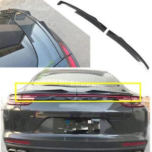 Carbon Fiber Car Rear Trunk Wing Spoiler Trim For 2017-2020 Porsche Panamera 971