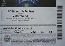 TICKET UEFA CL 2011/12 FC Bayern München - Villarreal CF