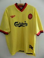 RARE 1997 Reebok Liverpool FC Away Top Retro Jersey Football Shirt Mens Adults
