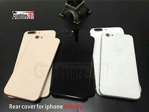 For iPhone 6 6s Plus 7 To iphone 8 8 Plus Battery Cover Glass Back Metal Housing