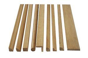 10 Pack of Solid Oak 900mm PAR, Beadings, Corner Moulding, Strip Wood, Dowel,
