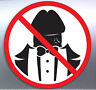 No Dick Heads Vinyl Cut Stickers Funny Rude Penis Sexy Suit Tuxedo Entry Smoking