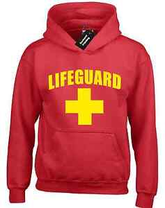 LIFEGUARD HOODY HOODY FUNNY DESIGN FANCY DRESS BAYWATCH BEACH STAG PARTY