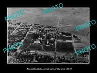 OLD POSTCARD SIZE PHOTO POCATELLO IDAHO AERIAL VIEW OF THE TOWN c1930